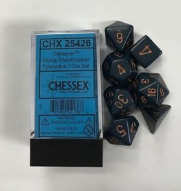 Chessex Dusty Blue w/Copper Numbers CHX25426