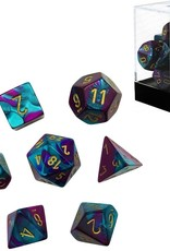 Chessex Chessex CHX26449 Dice, Gemini Purple-Teal/Gold, One Size, Purple/Teal/Gold