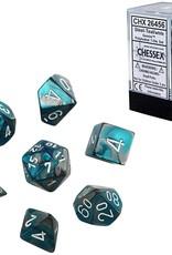 Chessex Chessex CHX26456 Dice-Gemini Steel-Teal/White Set