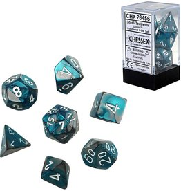 Chessex Chessex CHX26456 Dice-Gemini Steel-Teal/White Set, One Size, Multicolor