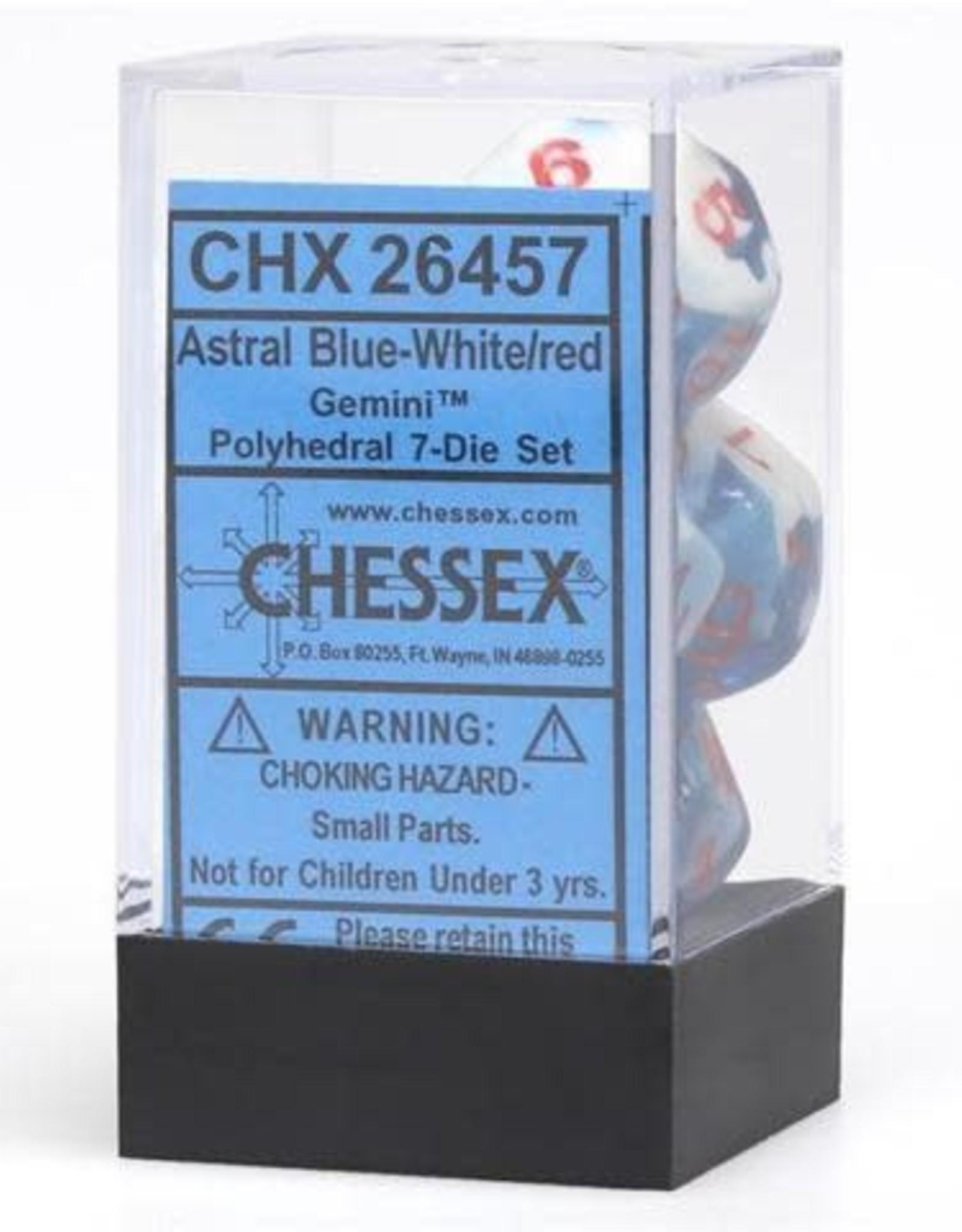 Chessex Chessex Manufacturing CHX26457 Astral Blue & White Cube Gemini