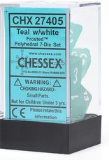 Chessex Chessex CHX27405 Dice-Frosted Teal/White Set