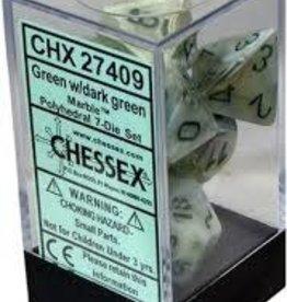 Chessex 7-setCubeMBL GRdkgr