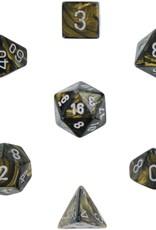 Chessex Chessex CHX27418 Dice-Leaf Black Gold/Silver Set