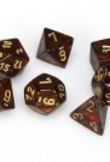 Chessex Scarab Poly 7 set: Blue Blood w/ Gold