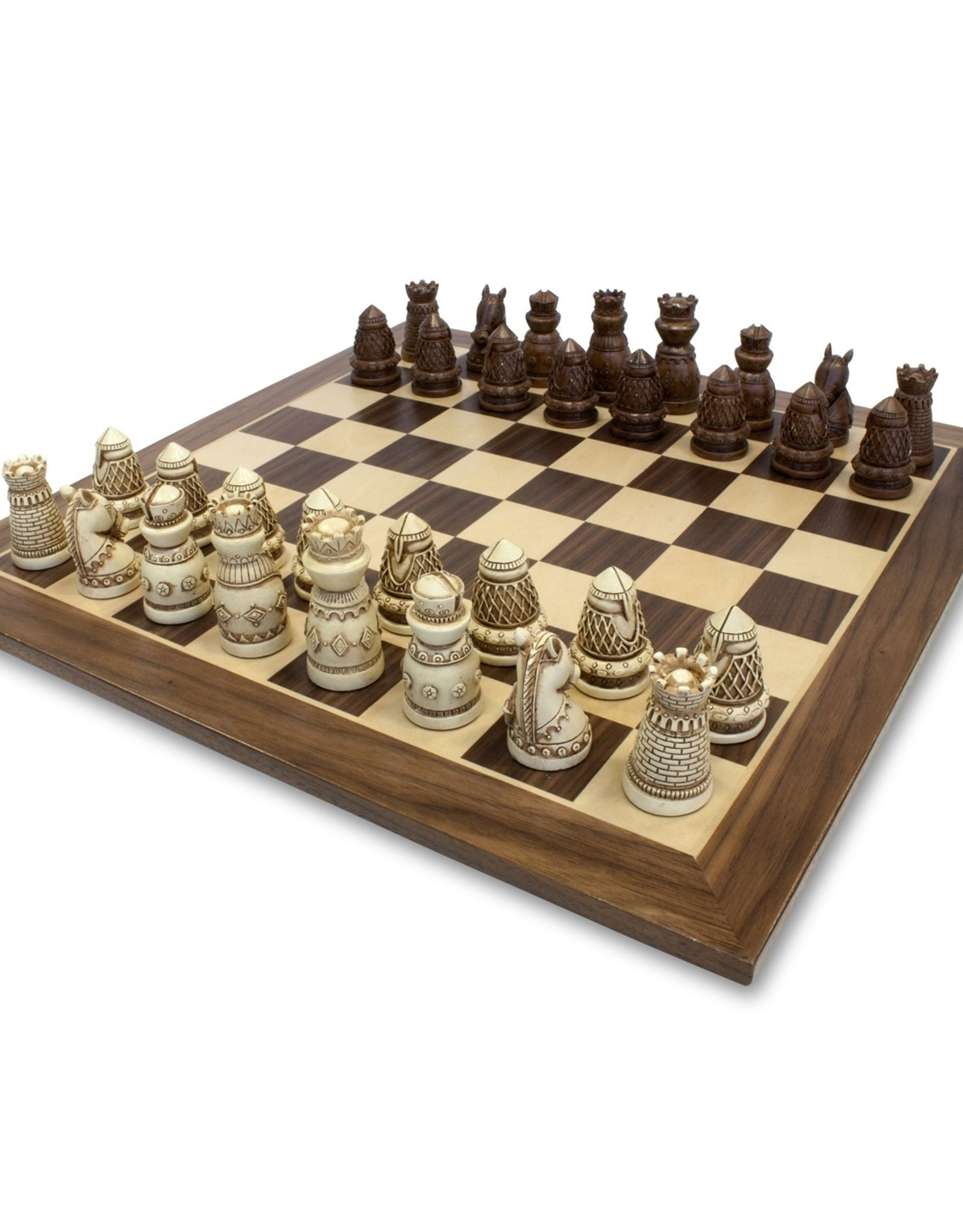 Wood Expressions Premium Medeival Chess Set