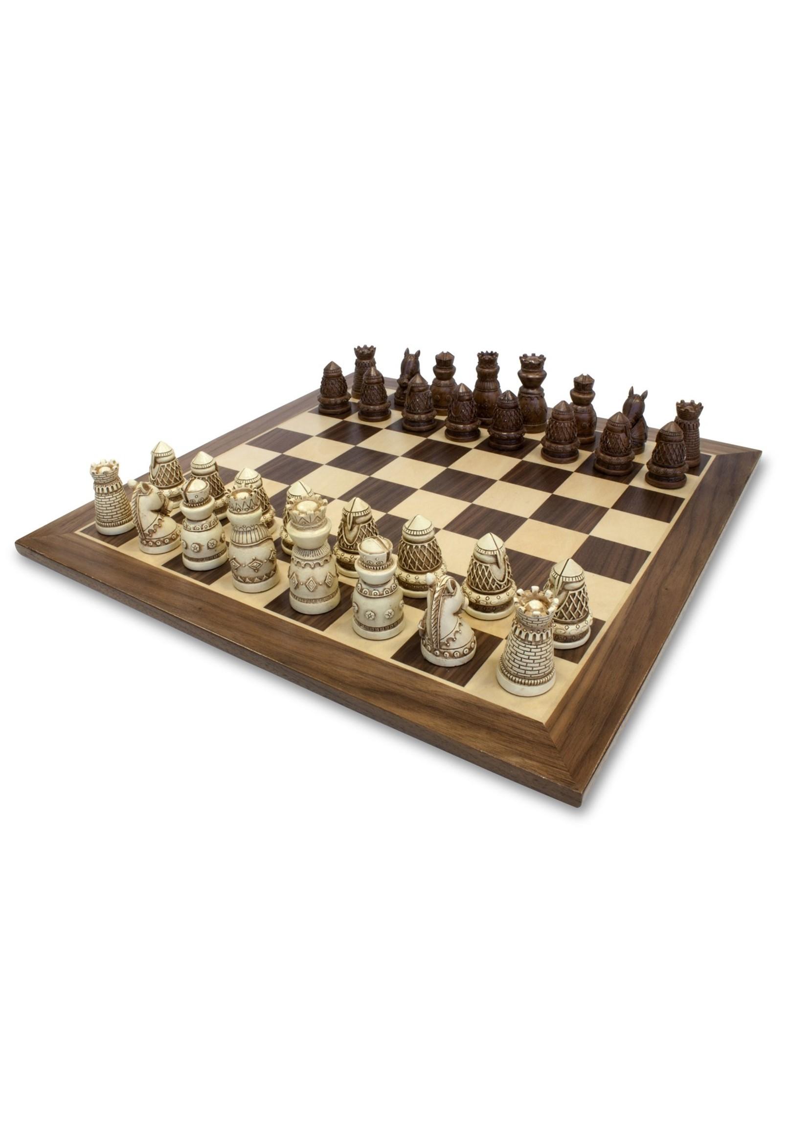Wood Expressions Premium Medeival Chess Set