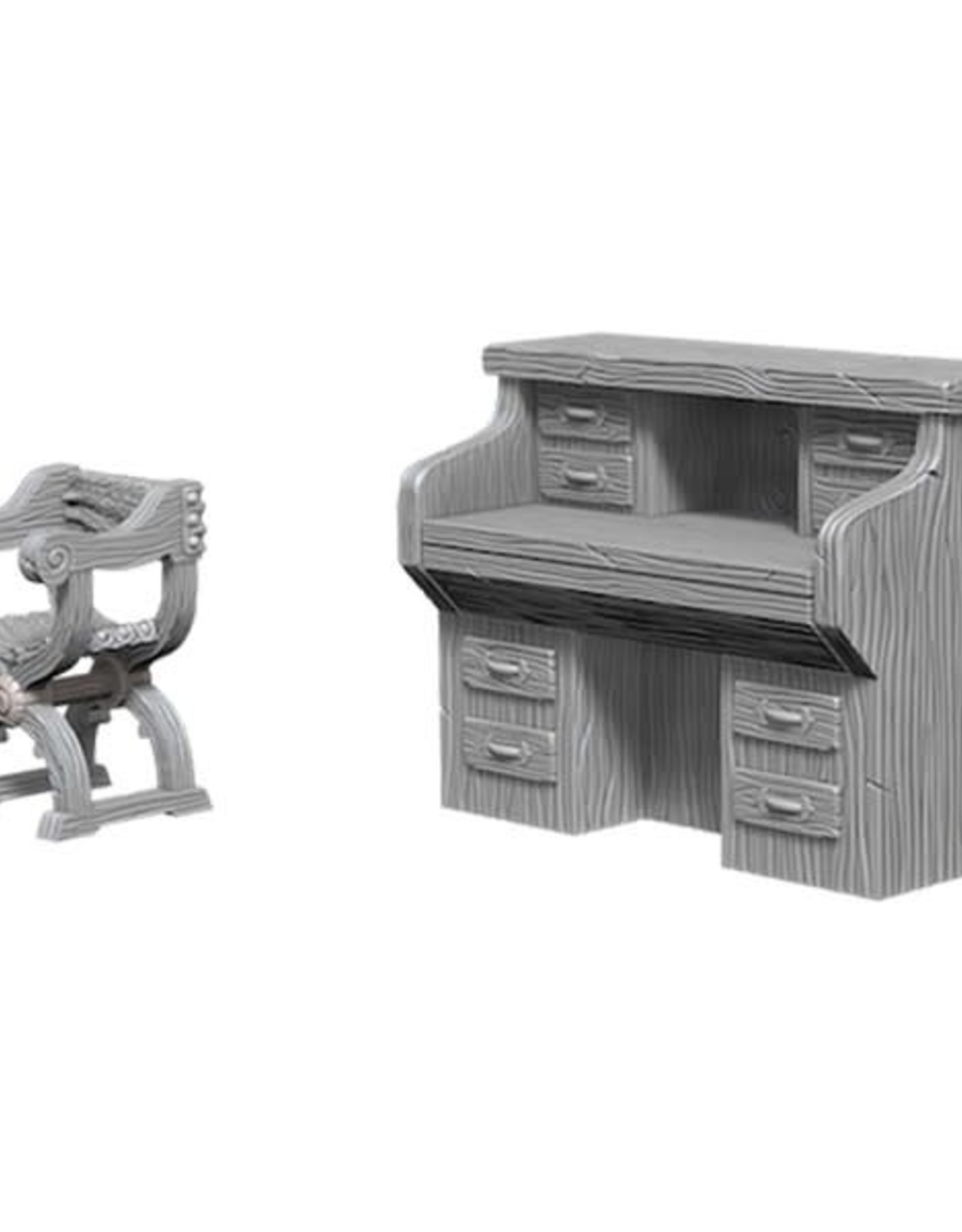 WizKids Deep Cuts Desk and Chairs