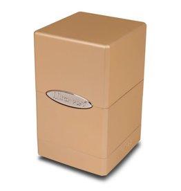 Ultra Pro Satin Tower Deck Box: Metallic Caramel