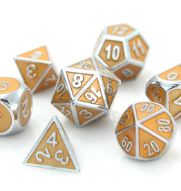 Die Hard Dice Metal Dice 7 Set Silver Citrine Gemstone Collection