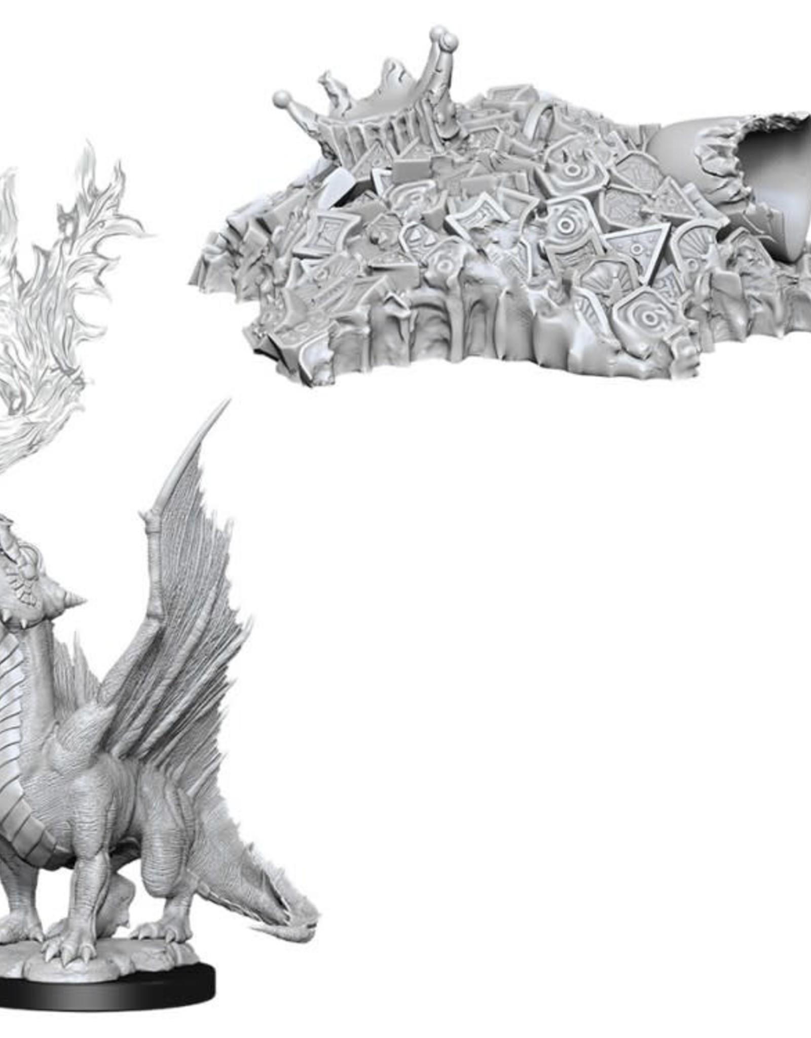 WizKids D&D Nolzur Gold Dragon Wyrmling & Half-Eaten Treasure Pile