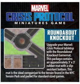 Asmodee Marvel Crisis Protocol Roundabout Knockout Game Mat