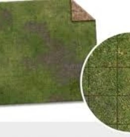 Monster Game Mat: 6x4 Broken Grassland/Desert Scrubland Adventure Grid