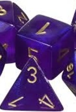 Chessex Chessex CHX27467 Dice-Borealis Royal Set, Purple/Gold