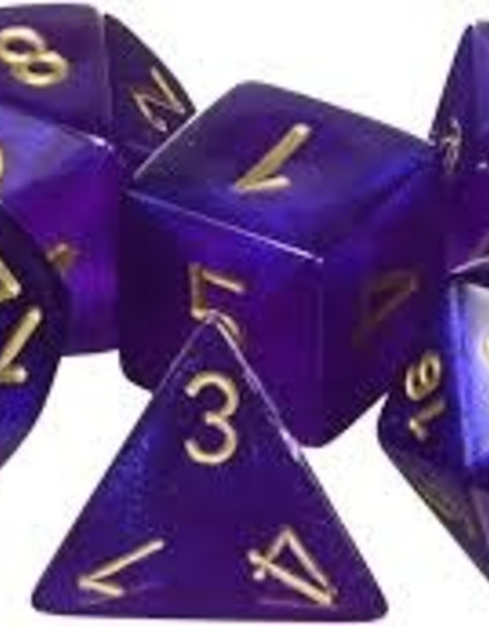 Chessex Borealis Poly 7 set: Royal Purple w/ Gold