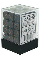 Chessex Chessex Opaque 12mm d6 Dark Grey w/ Copper Dice Block - Set of 36