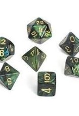 Chessex Chessex Scarab Jade w/ Gold Polyhedral 7 Dice Set CHX27415