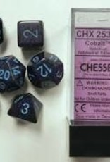 Chessex Speckled Poly 7 set: Cobalt