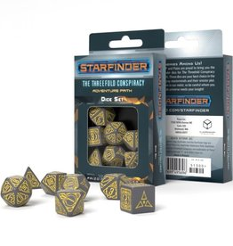 Q-Workshop Starfinder Threefold Conspiracy Dice Set