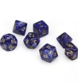 Chessex Scarab Poly 7 set: Royal Blue w/ Gold
