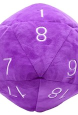 Ultra Pro Jumbo Plush D20 Purple/White