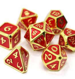 Die Hard Dice Metal Dice 7 set Mythica Gold Ruby