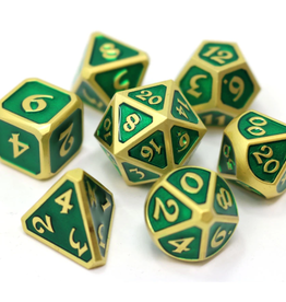Die Hard Dice Metal Dice 7 set Mythica Satin Gold Emerald