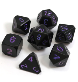 Die Hard Dice Metal Dice 7 set Forge Nightshade