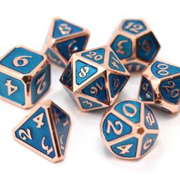 Die Hard Dice Metal Dice 7 set Mythica Copper Aquamarine