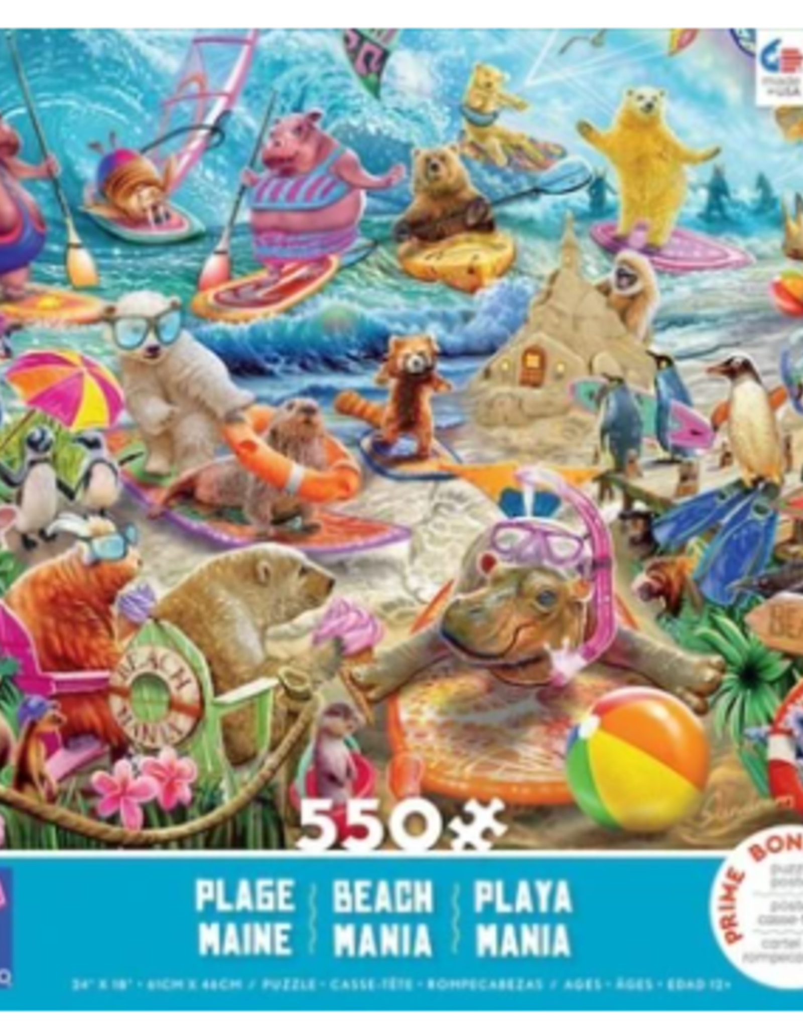 CEACO 550 pc puzzle - Beach Mania