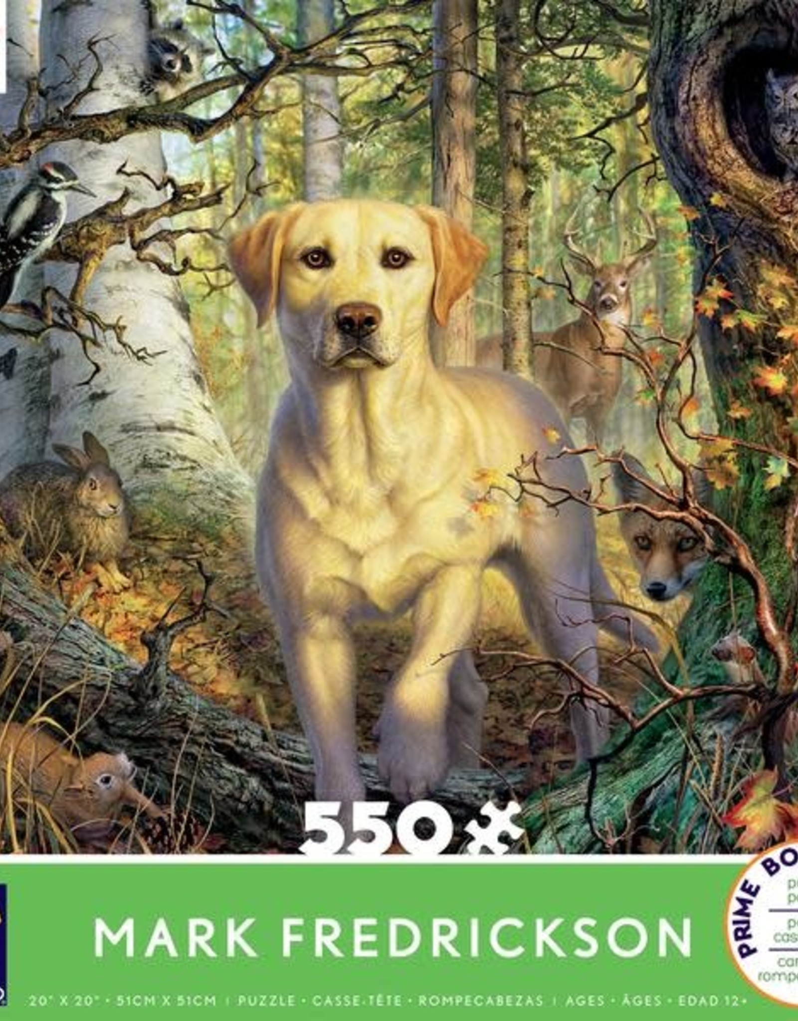 CEACO 550 pc puzzle - Mark Fredrickson - Yellow Lab