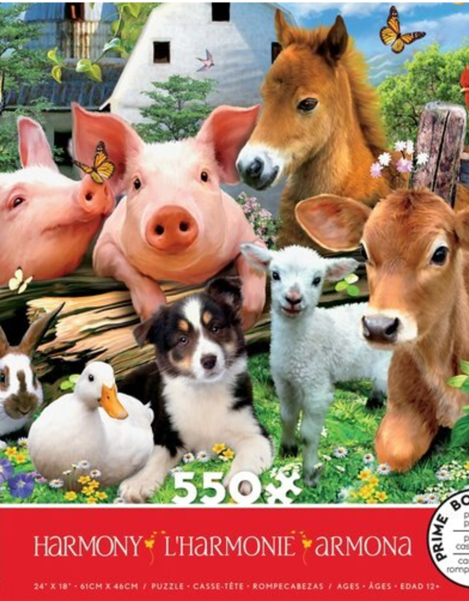 CEACO 550 pc puzzle - Harmony - Farm Friends