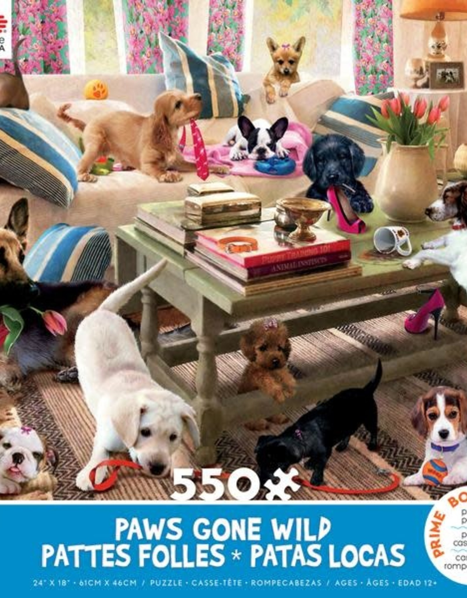 CEACO 550 pc puzzle - Paws Gone Wild - Living Room Rompers