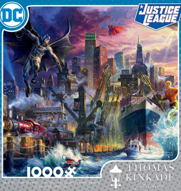 CEACO 1000pc puzzle - DC Comics Thomas Kinkade - Showdown at Gotham Pier