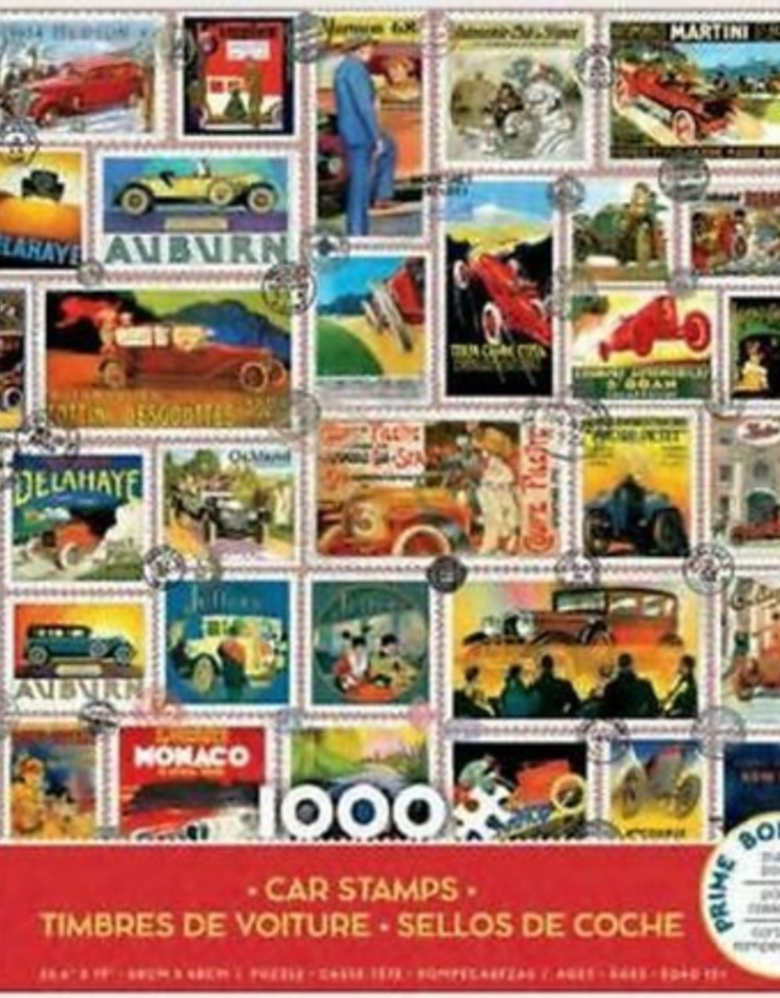 CEACO 1000 pc puzzle - Car Stamps
