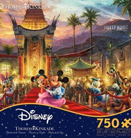 CEACO 750 pc puzzle - Thomas Kinkade Disney - Mickey and Minnie Hollywood
