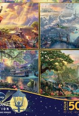 CEACO 4x 500 pc puzzle - Thomas Kinkade Disney [Lion King, Peter Pan, Jungle Book, Princess and the Frog]
