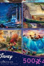 CEACO 4x 500 pc puzzles - Thomas Kinkade Disney [Cinderella, Lion King, Little Mermaid, Mickey and Minnie]