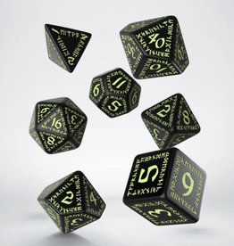 Q-Workshop Runic Dice Black Glow-in-the-Dark