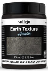 VALLEJO Diorama Effects: Earth Texture: Black Lava - Asphalt (200 ml)
