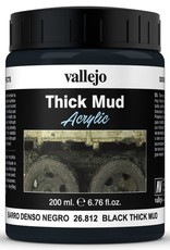 VALLEJO Diorama Effects: Thick Mud: Black Thick Mud (200 ml)