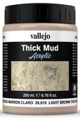 VALLEJO Diorama Effects: Thick Mud: Light Brown Mud (200 ml)