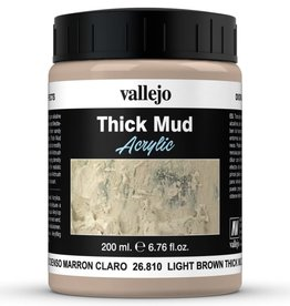 VALLEJO Diorama Effects: Thick Mud: Light Brown Mud (200 ml)
