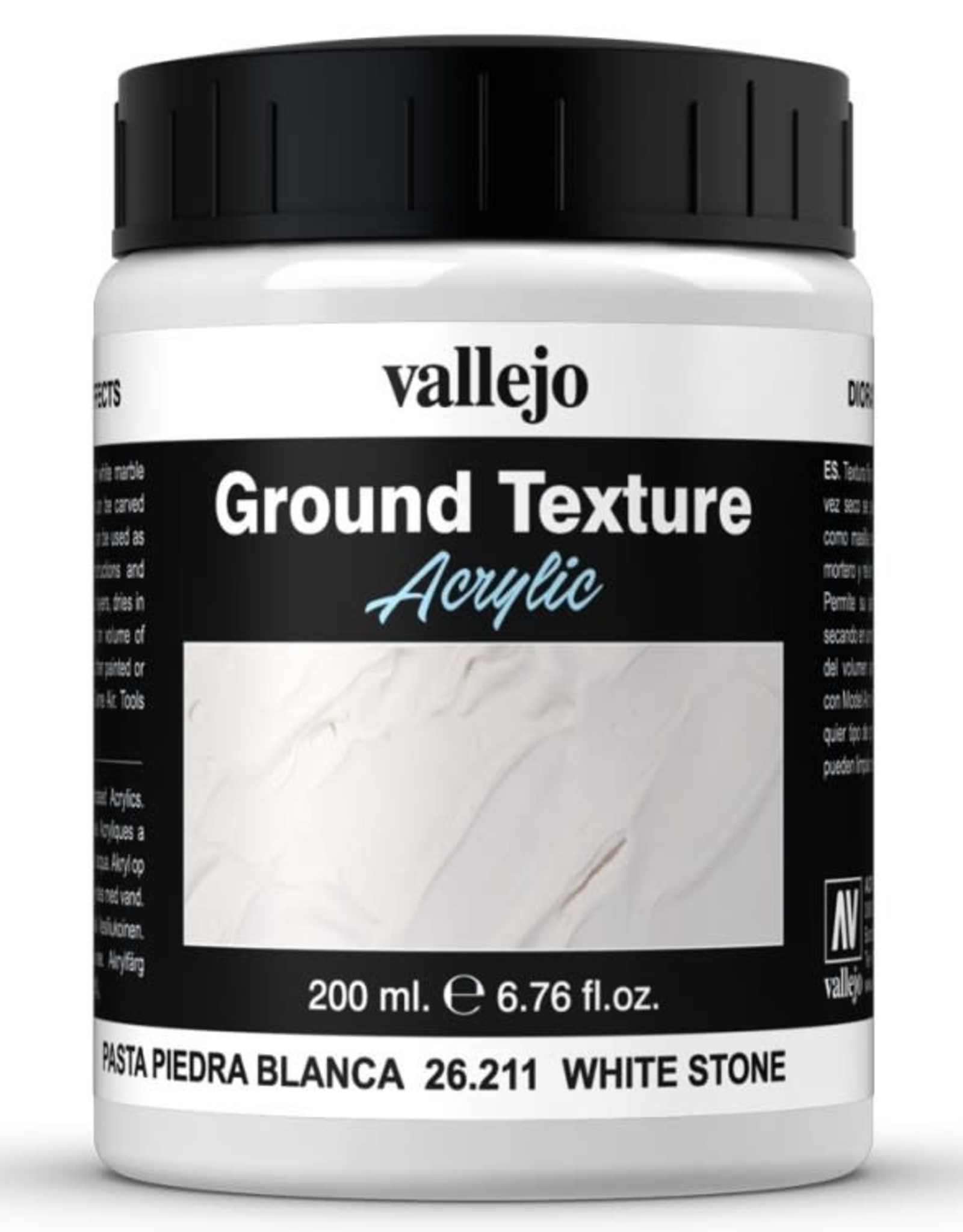 VALLEJO Diorama Effects: Ground Texture: White Stone (200 ml)