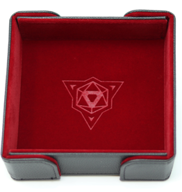 Die Hard Dice Magnetic Dice Tray: Square Red