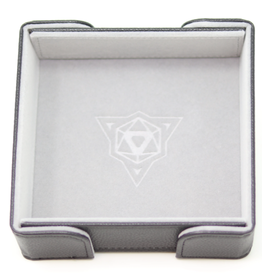 Die Hard Dice Magnetic Dice Tray: Square Gray