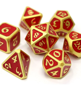 Die Hard Dice Metal Dice 7 set Mythica Satin Gold Ruby