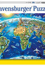 Ravensburger 300pc XXL puzzle World Landmarks Map