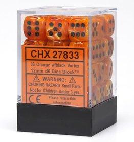 Chessex d6Cube12mmVR ORbk (36)