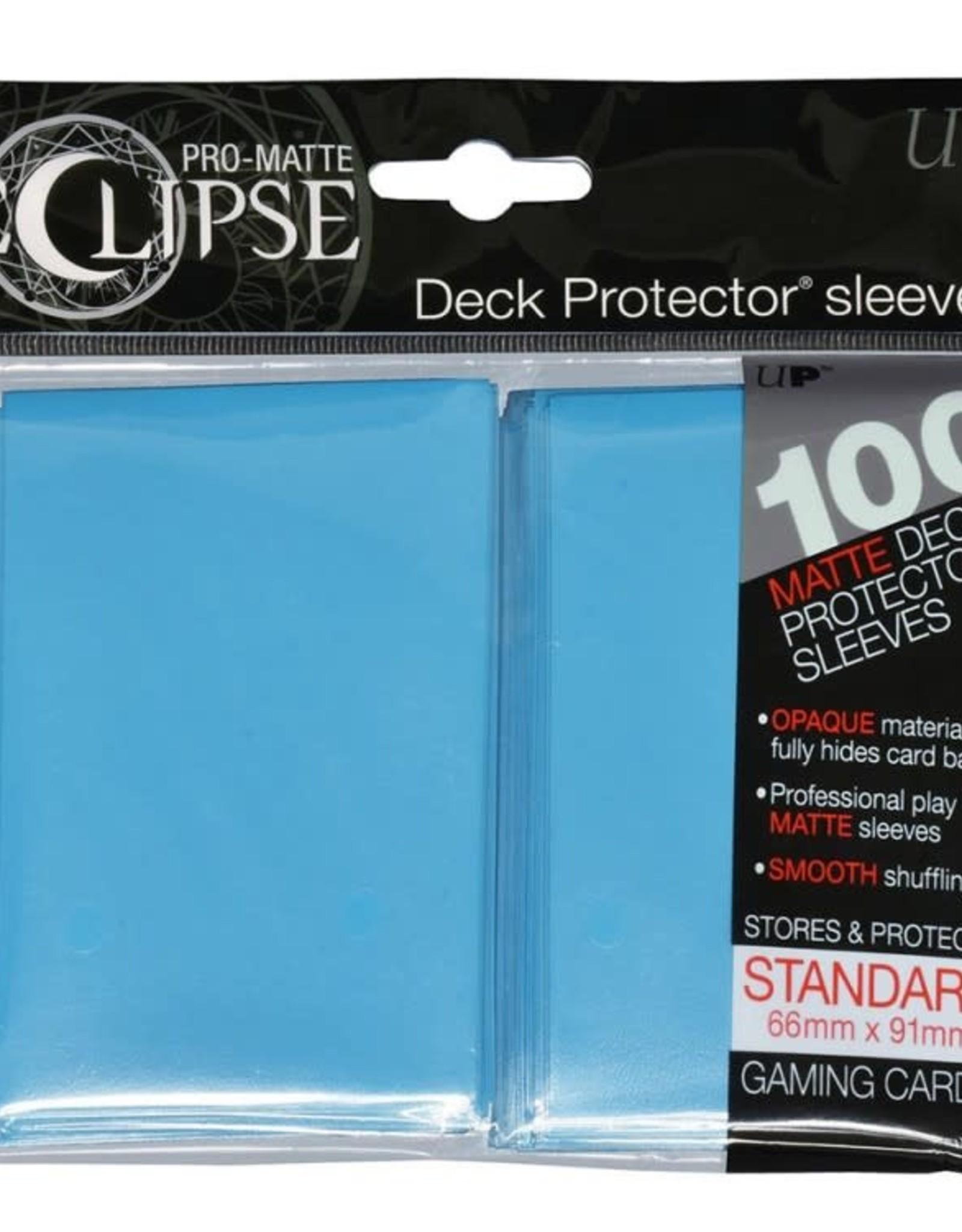 Ultra Pro Deck Protectors: PRO: Eclipse: Matte Light Blue  (100)
